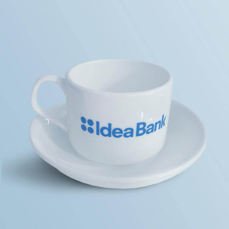 """Чашка з блюдцем """"Idea Bank"""""""