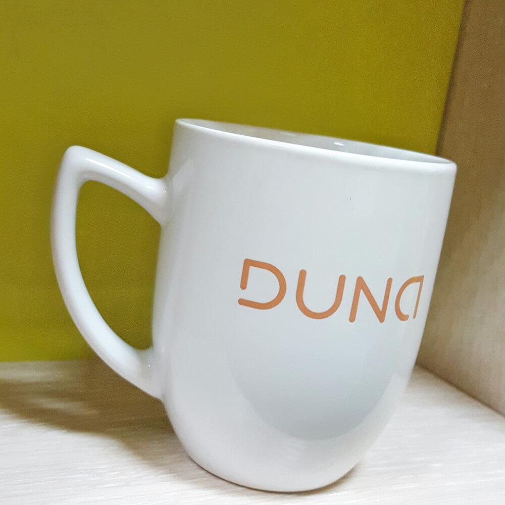 Керамічні чашки з логотипом для компанії DUNA