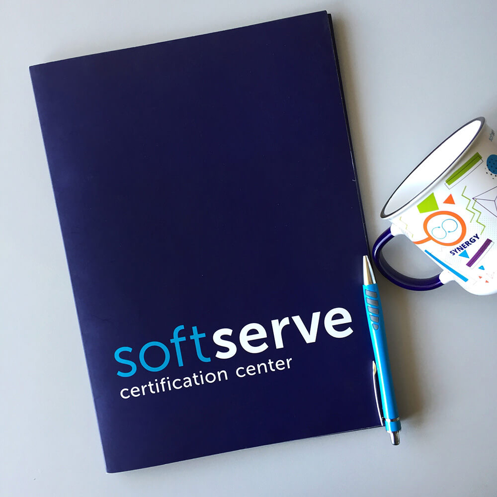 "Папки для компанії ""SoftServe certification center"""