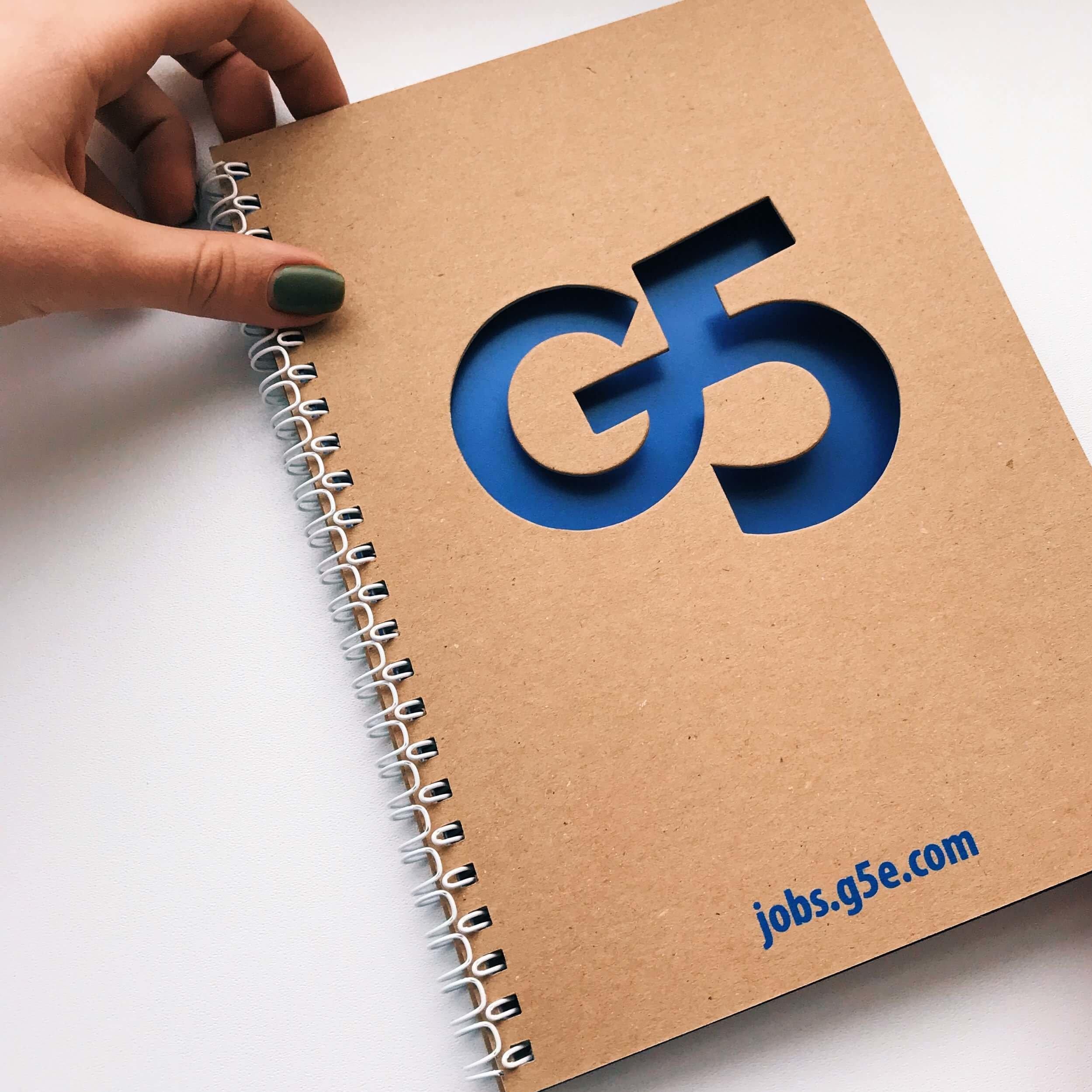 Эко блокнот с высечкой для компании «G5 GAMES»