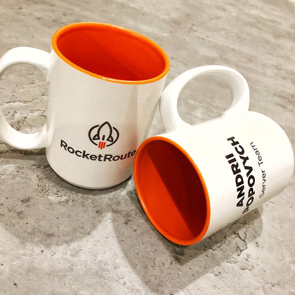 """Іменні чашки для компанії """"RocketRoute"""""""