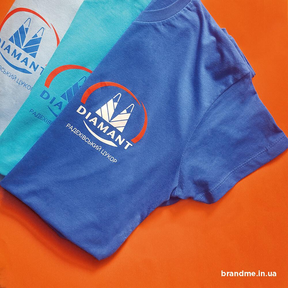 Корпоративные футболки для компании «DIAMANT»