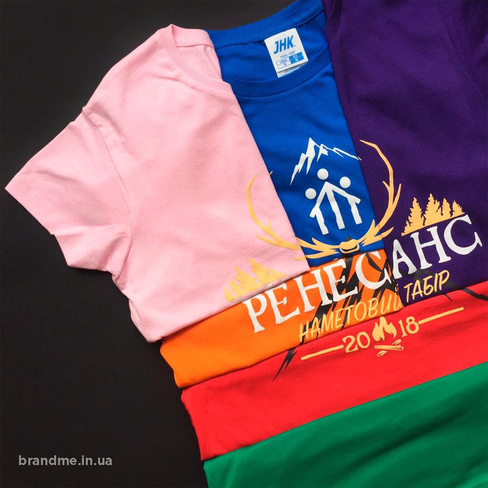 Цветные футболки. Заказать печать на футболках.