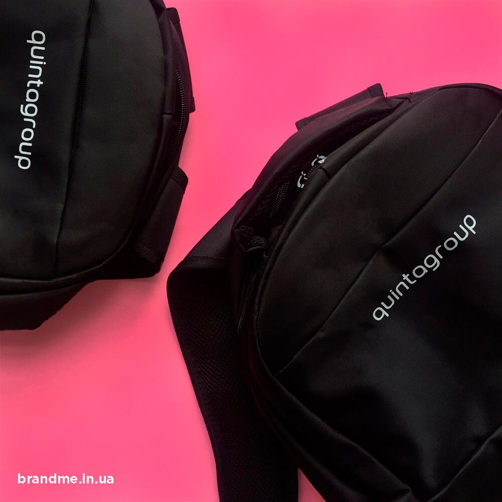 Брендовані рюкзаки з логотипом для «quintagroup»