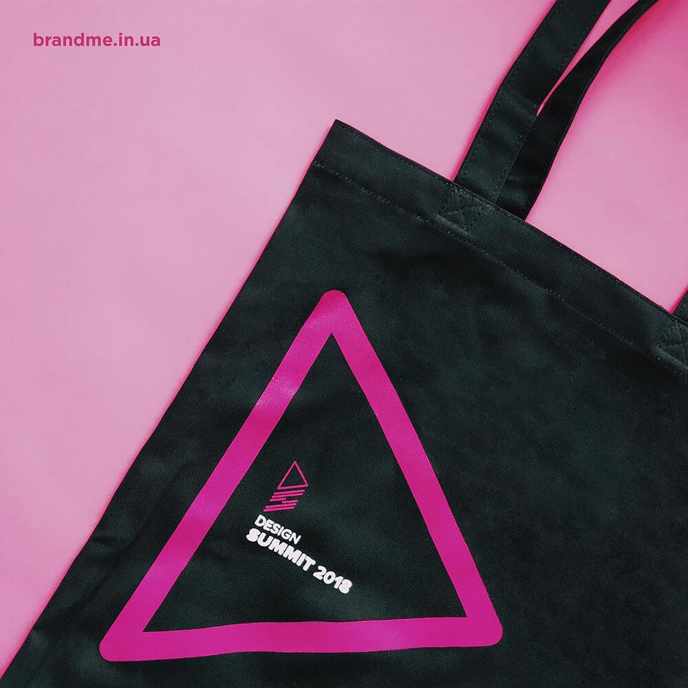 Черные сумки для конференции «DESIGN SUMMIT 2018»