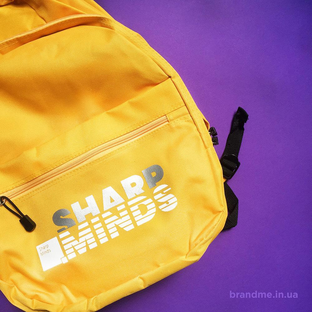 Рюкзаки з логотипом для компанії «SharpMinds»