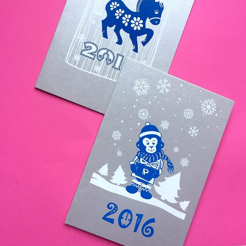 Изготовление открыток на заказ самара, новым годом