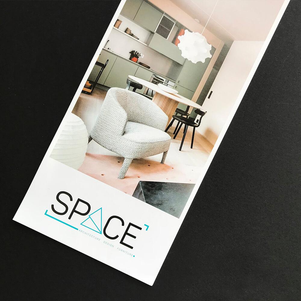 """Дизайн флаера для архитектурной студии """"Space"""""""