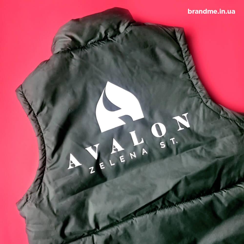 """Корпоративные жилетки для компании """"AVALON"""""""