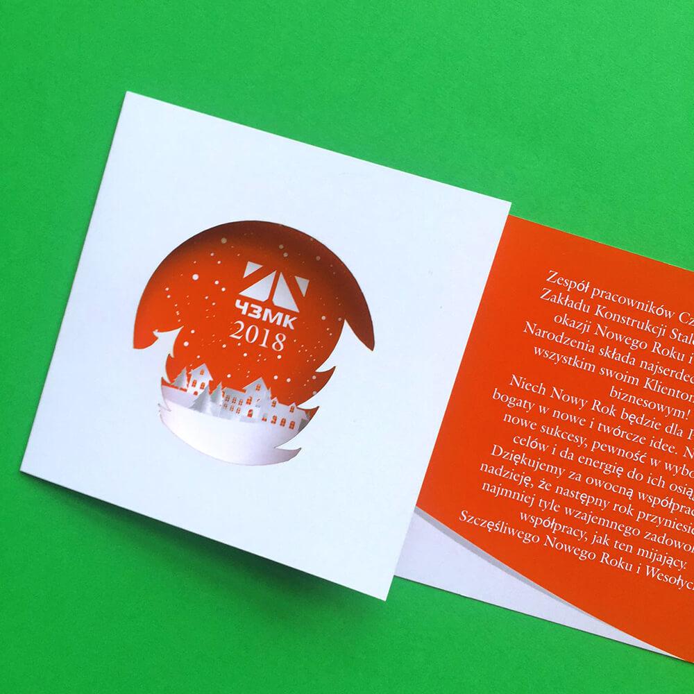 Дизайн и печать открыток для завода «ЧЗМК»