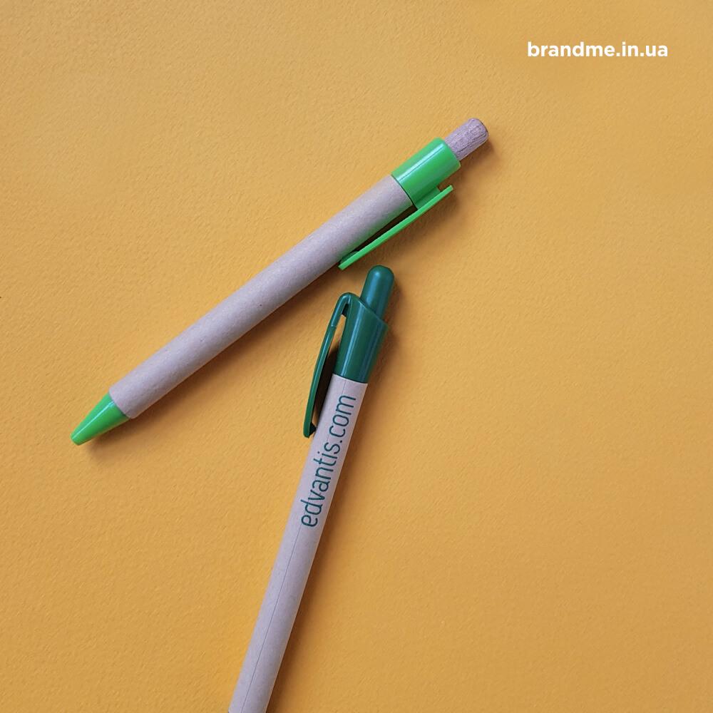 """Еко-ручки з нанесенням для """"Edvantis"""""""