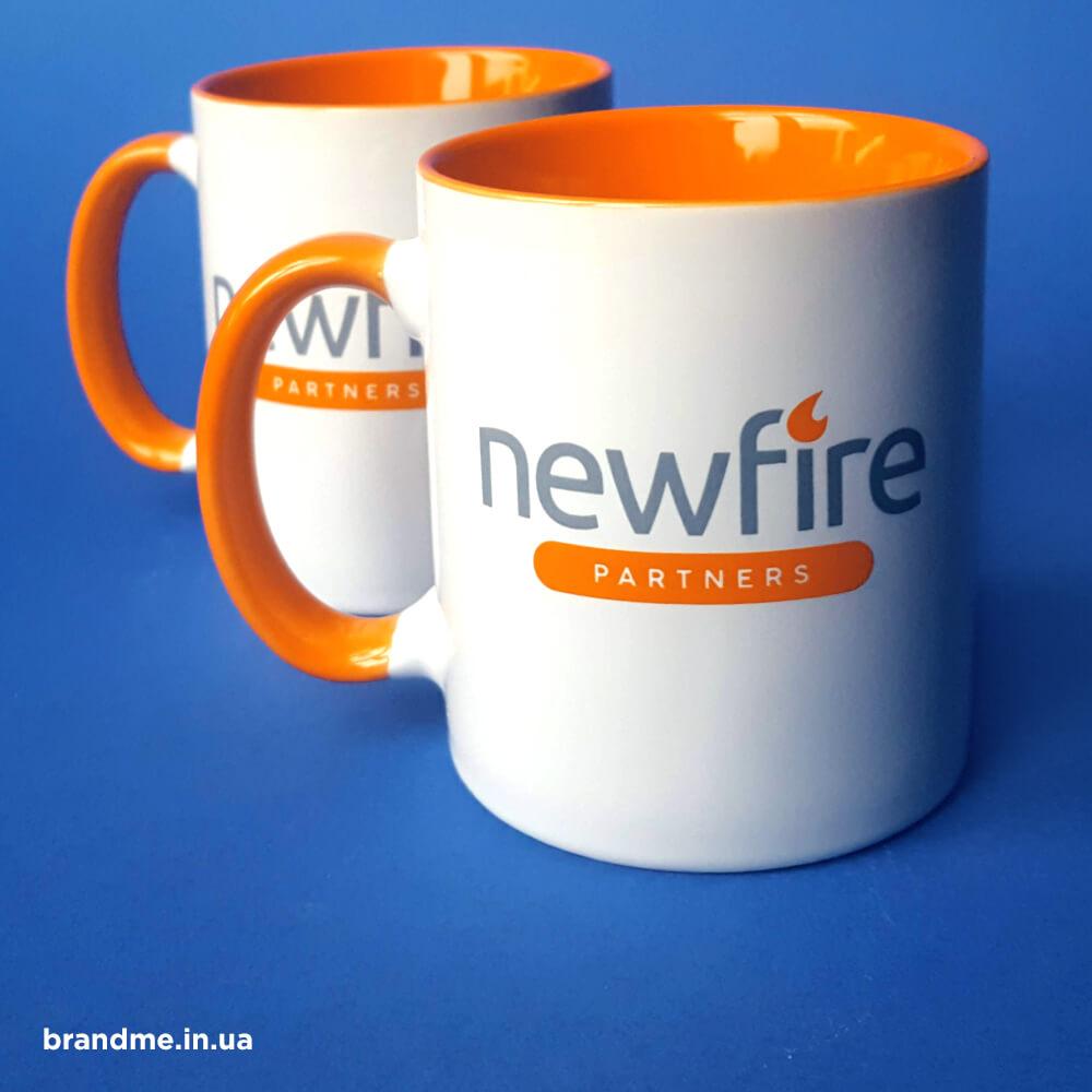 """Корпоративні чашки для компанії """"NewFire"""""""