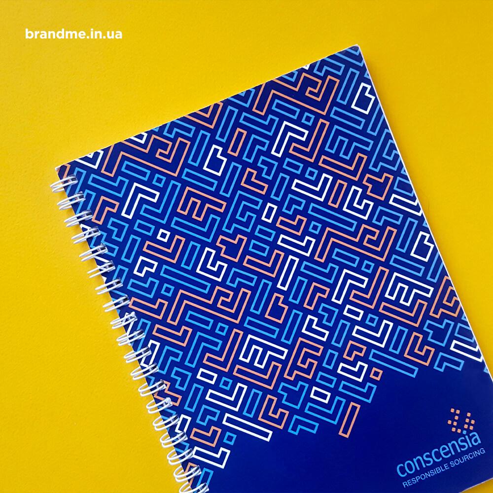 """Друк корпоративних блокнотів для компанії """"conscensia"""""""