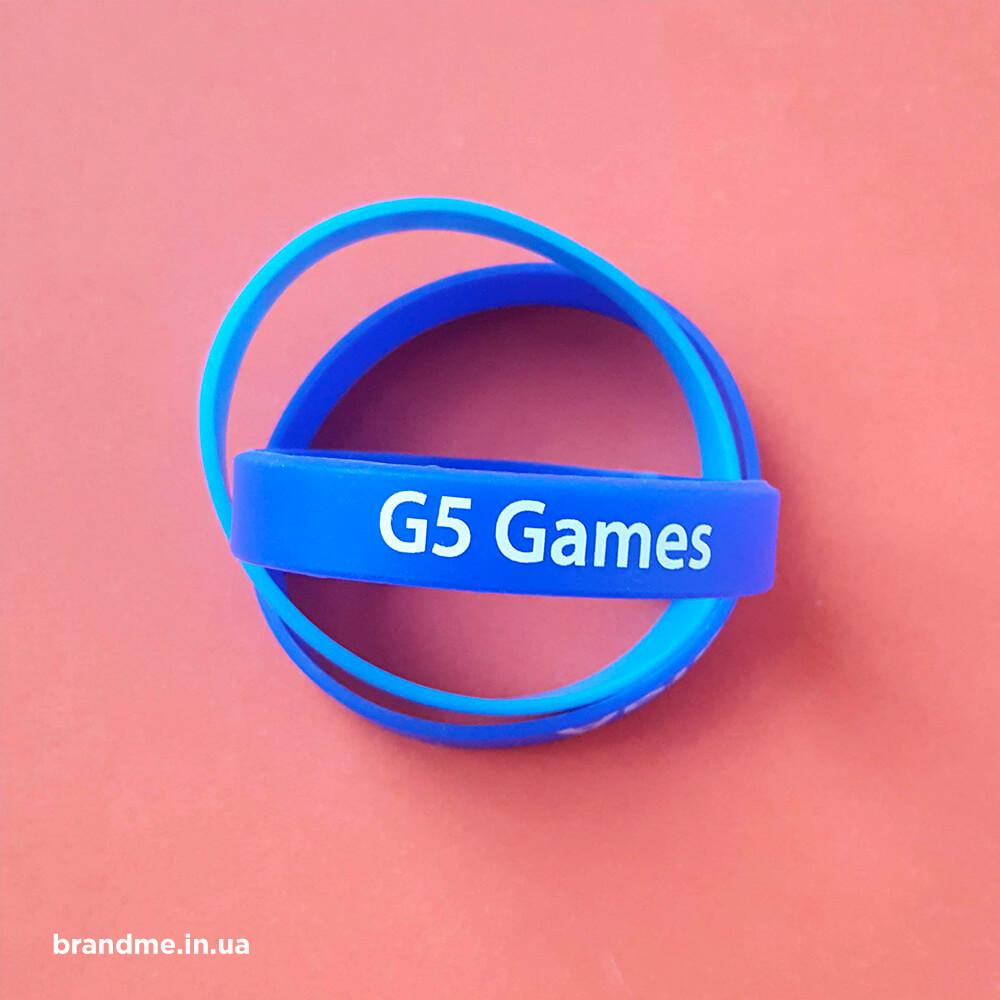Силіконові браслети для компанії «G5 GAMES»