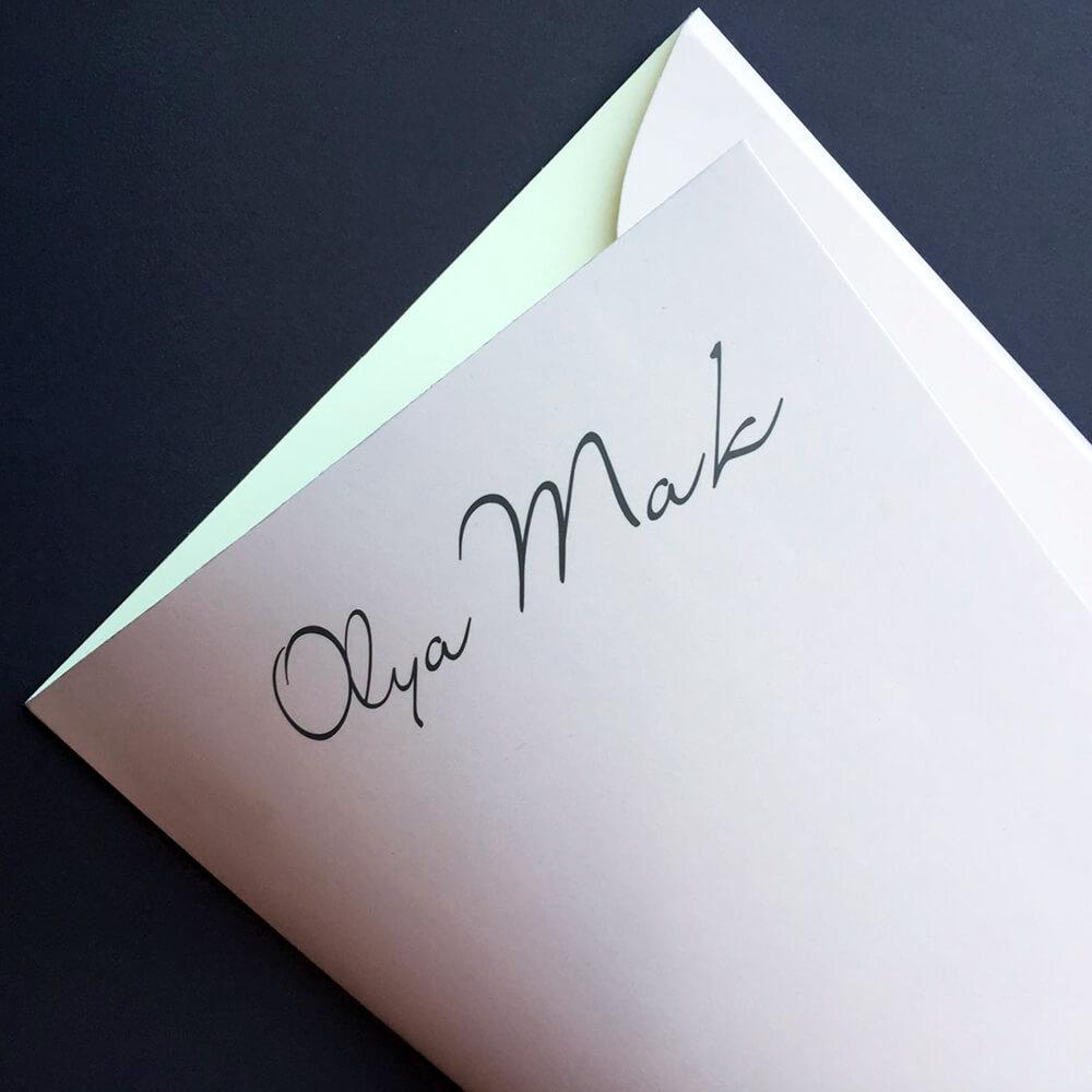 """Виготовлення папок з логотипом для """"Olya Mak"""""""