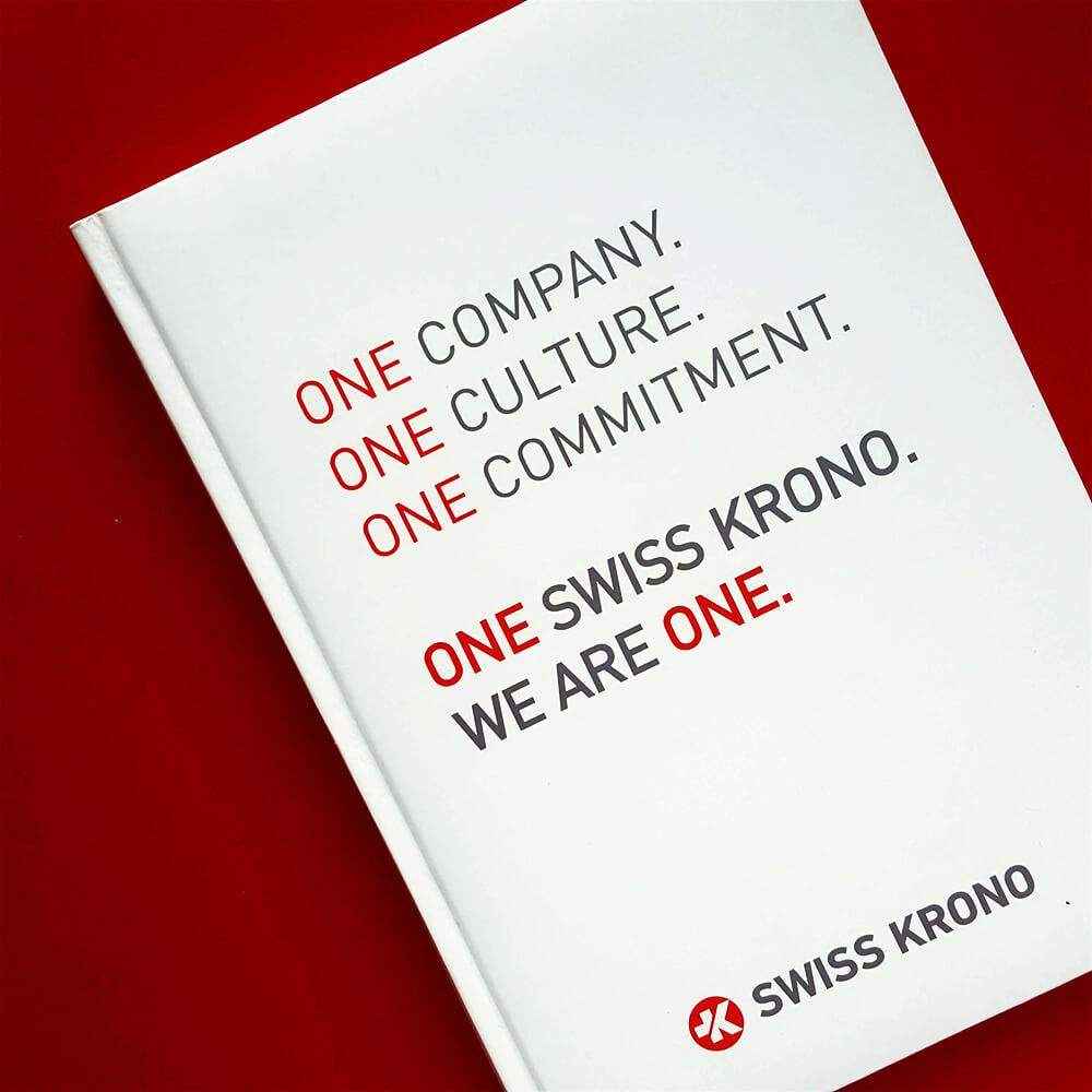 """Печать деловых дневников для компании """"SWISS KRONO"""""""