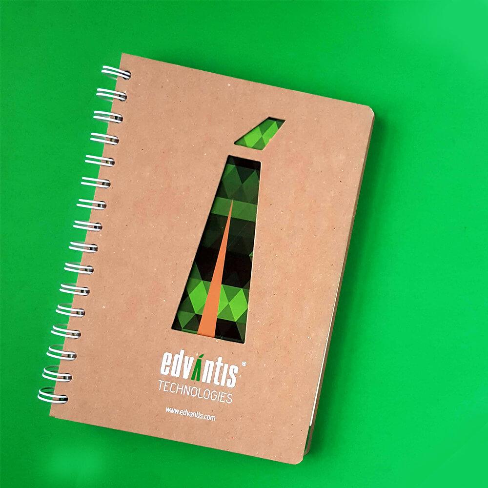 """Еко-блокноти з висічкою для компанії """"EDVANTIS"""""""