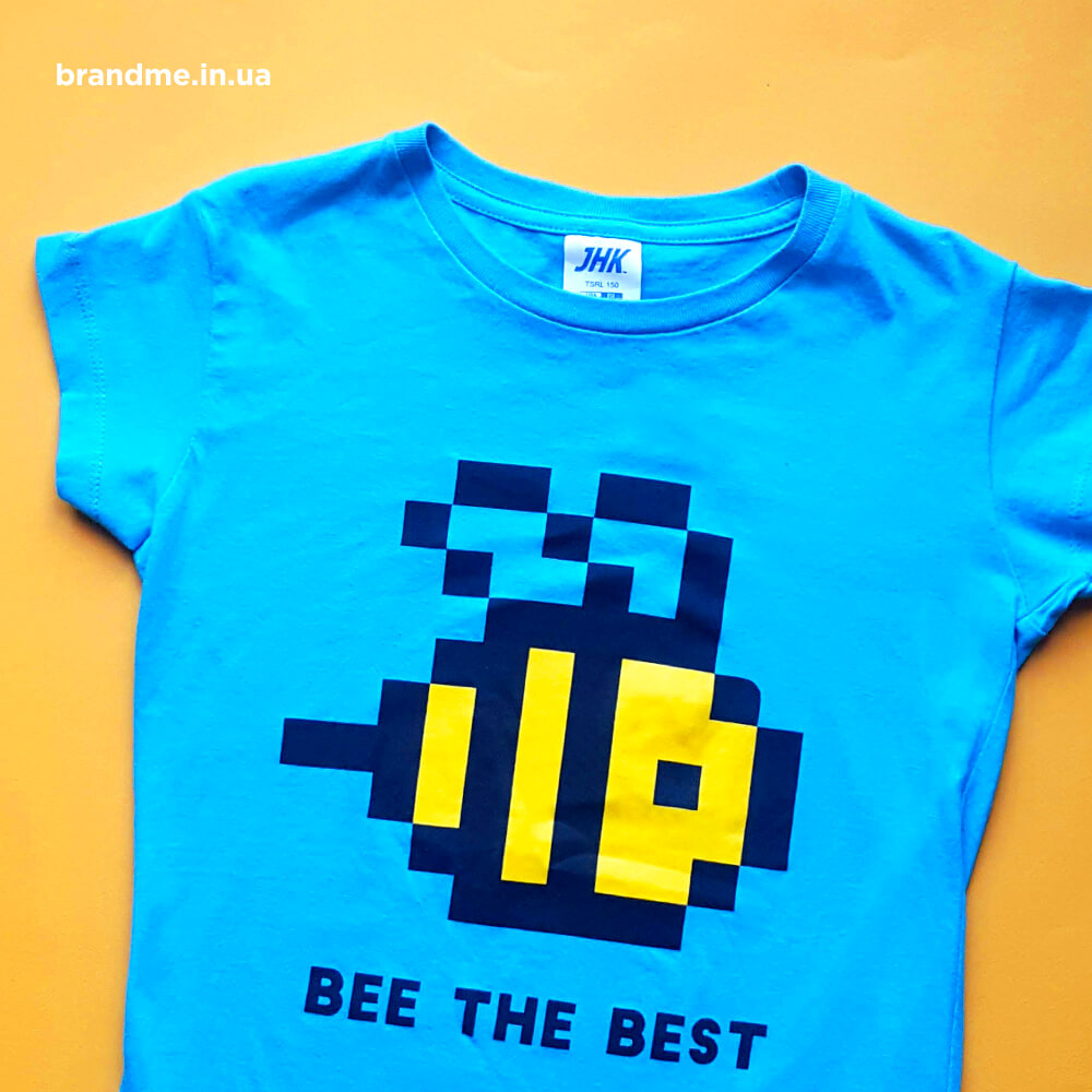 "Футболки ""BEE THE BEST"" для компанії SoftServe"