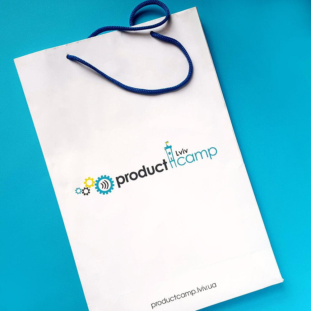 """Паперові пакети """"Product Camp Lviv"""""""