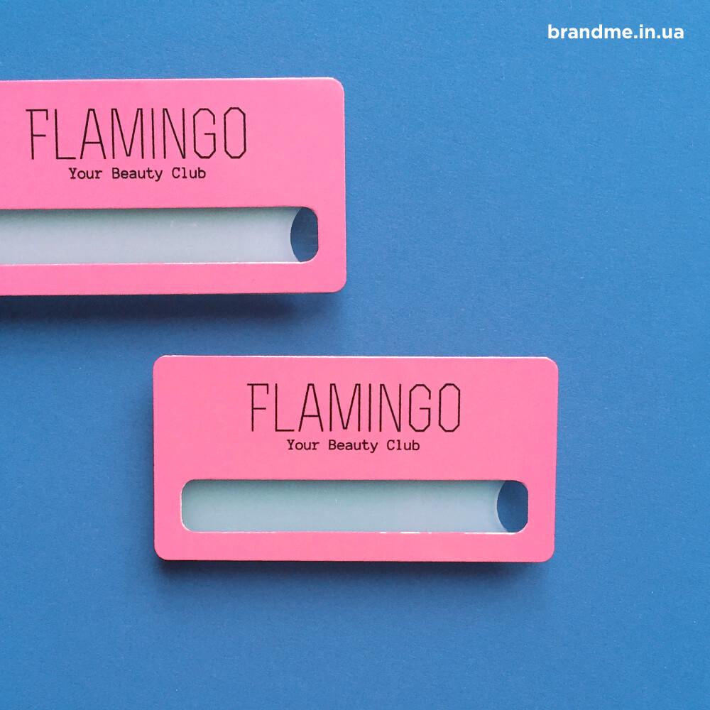 """Бейджи для салона красоты """"Flamingo"""""""