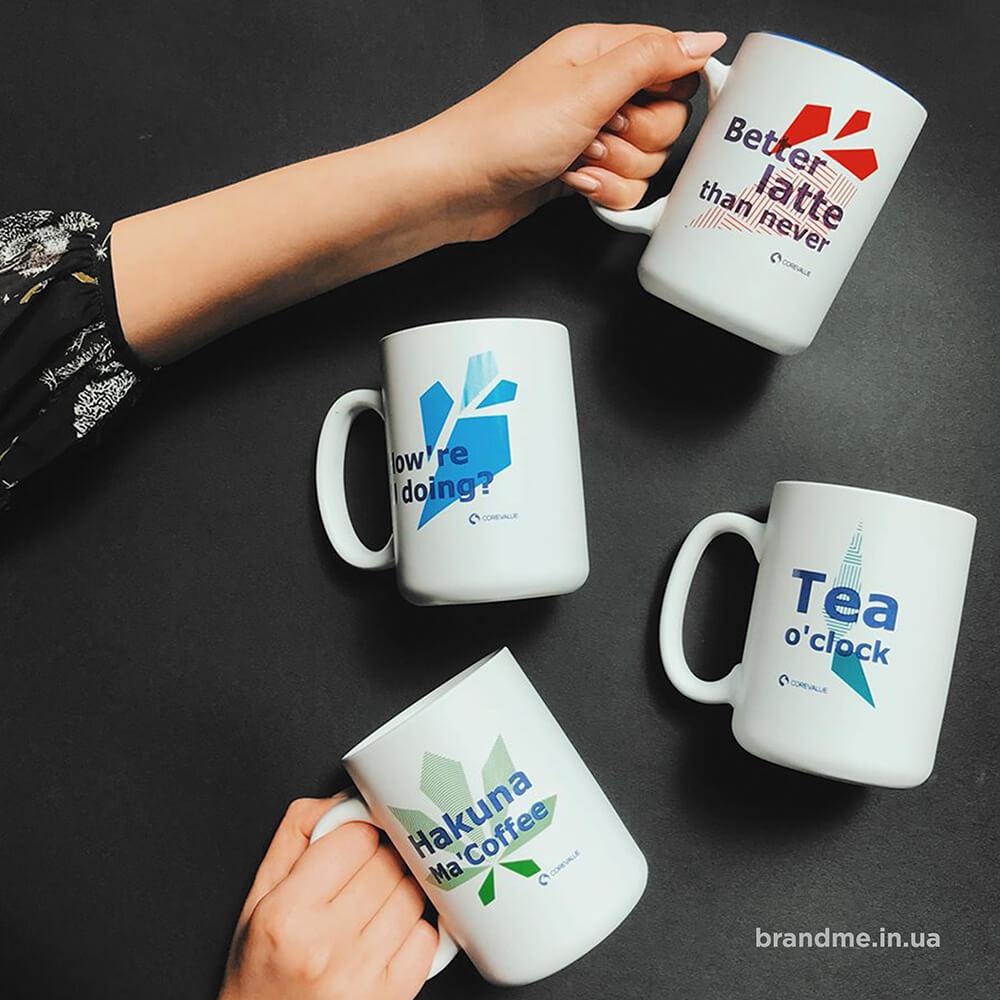 Корпоративні чашки з нанесенням