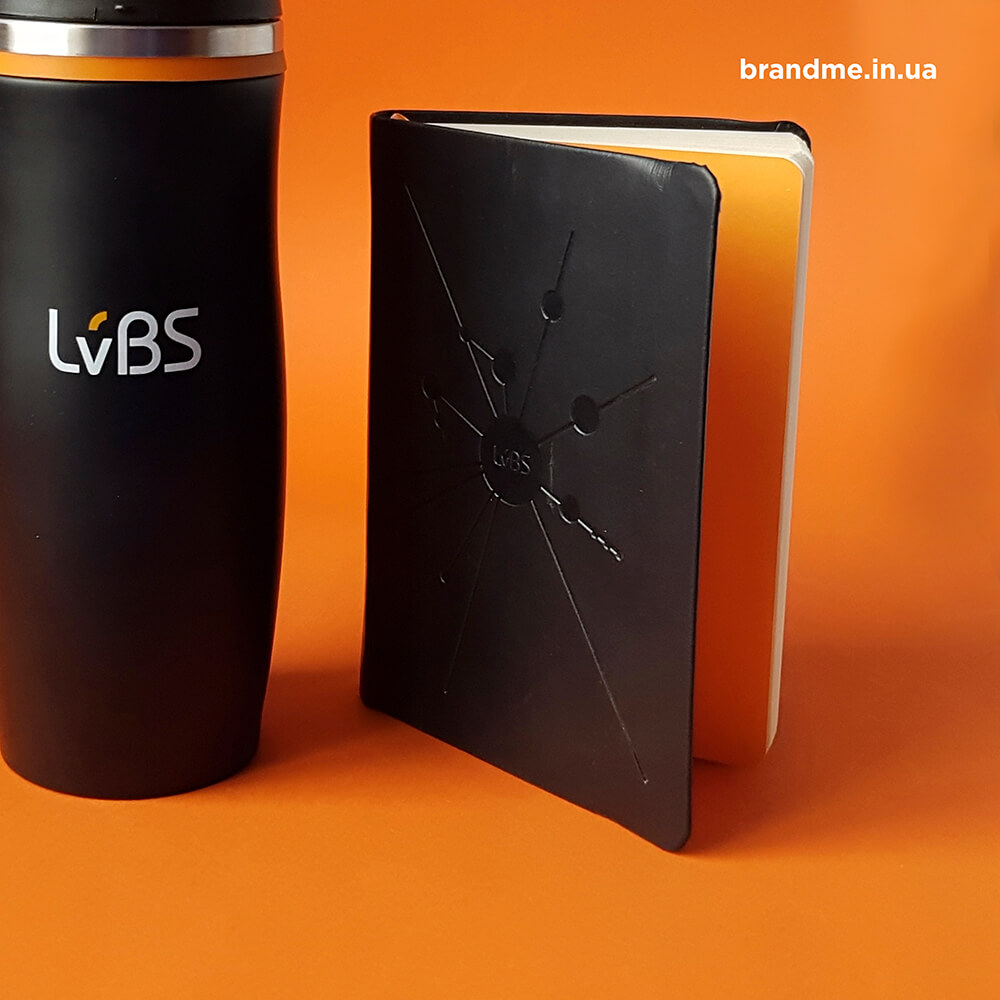 Термочашка и блокнот для LvBS