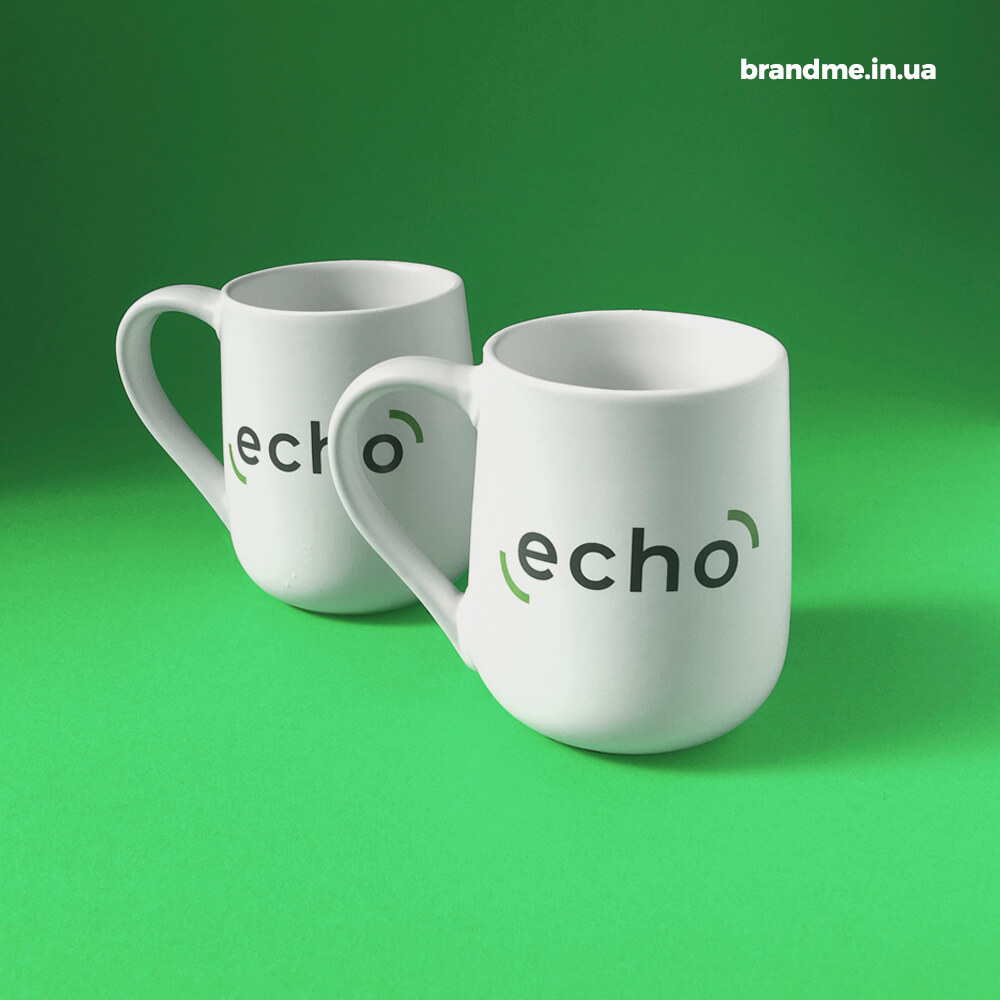 """Чашки с логотипом для компании """"ECHO"""""""