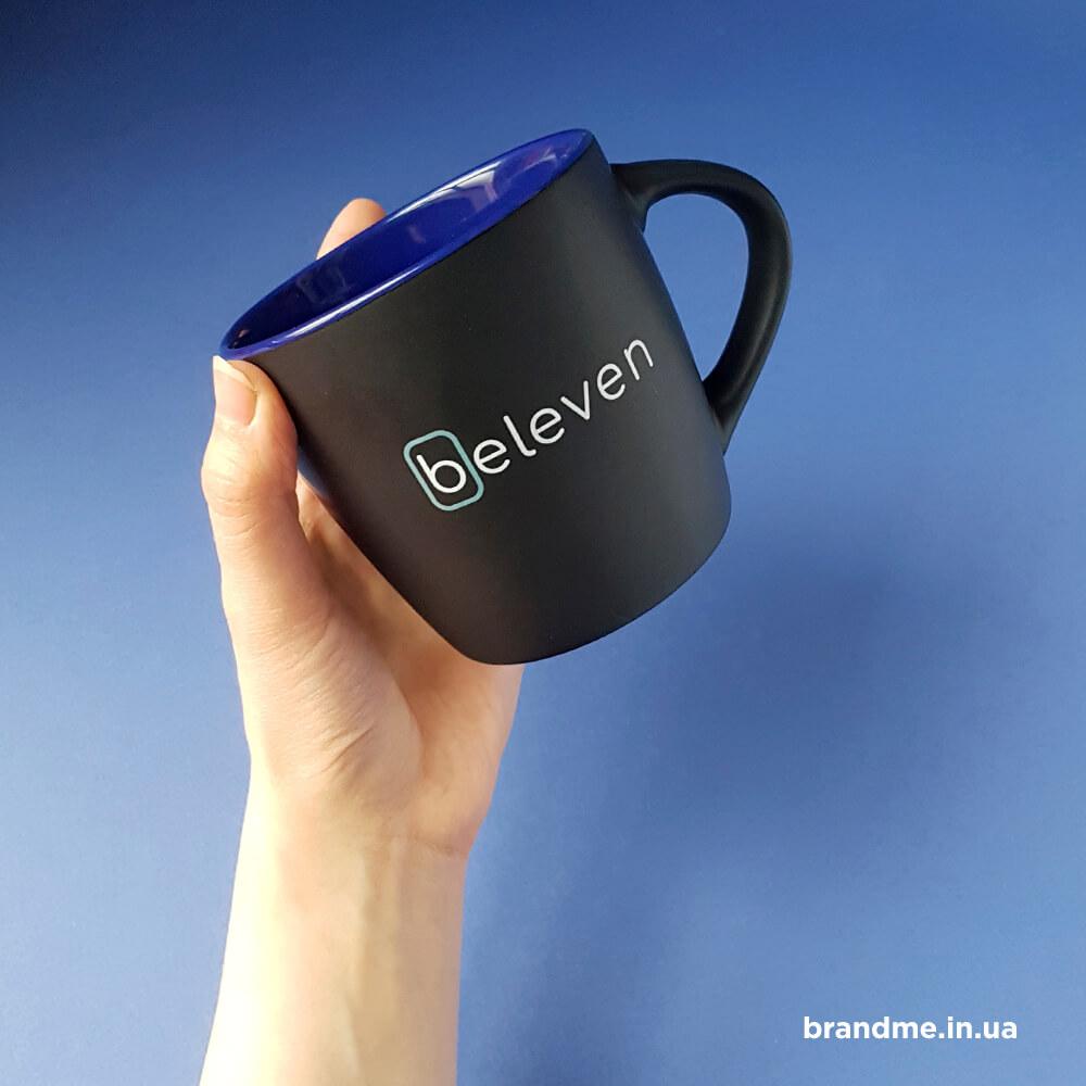 Чорні матові чашки для компанії Beleven
