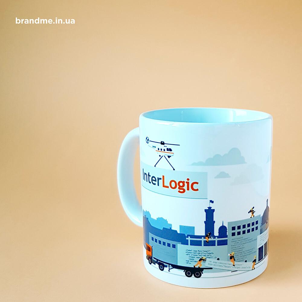 """Нанесение рисунка на чашку для компании """"InterLogic"""""""