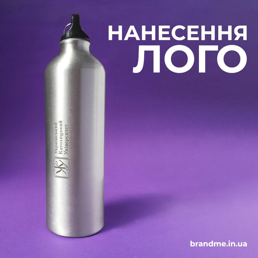 Лазерная гравировка на металлических бутылках для воды