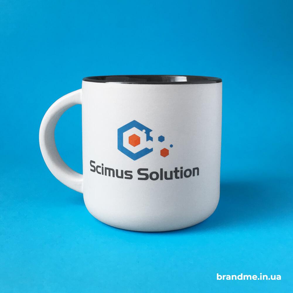 """Чашки с логотипом для компании """"Scimus Solution"""""""