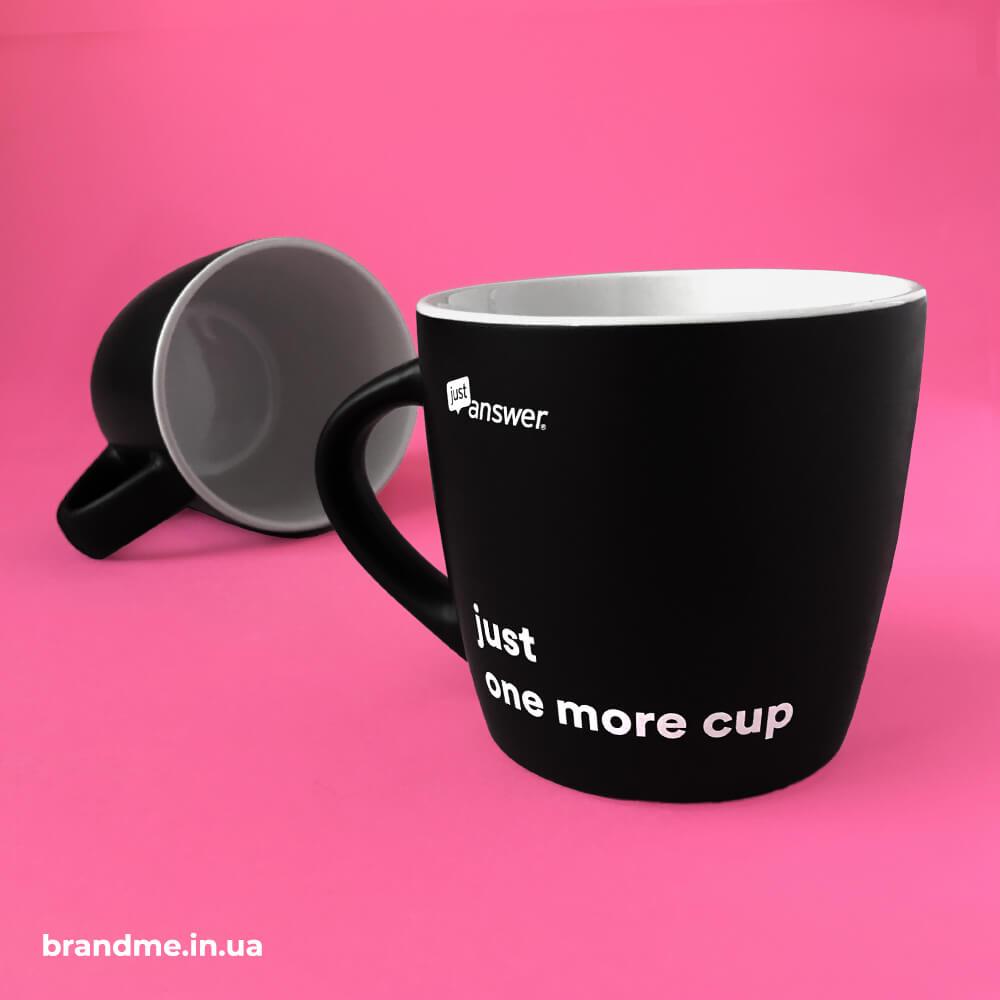 """Корпоративні чашки для компанії """"JustAnswer"""""""