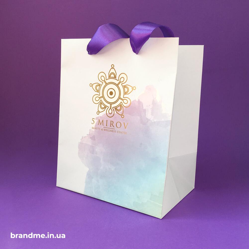 "Подарункова упаковка для beauty & wellness center ""5 MIROV"""