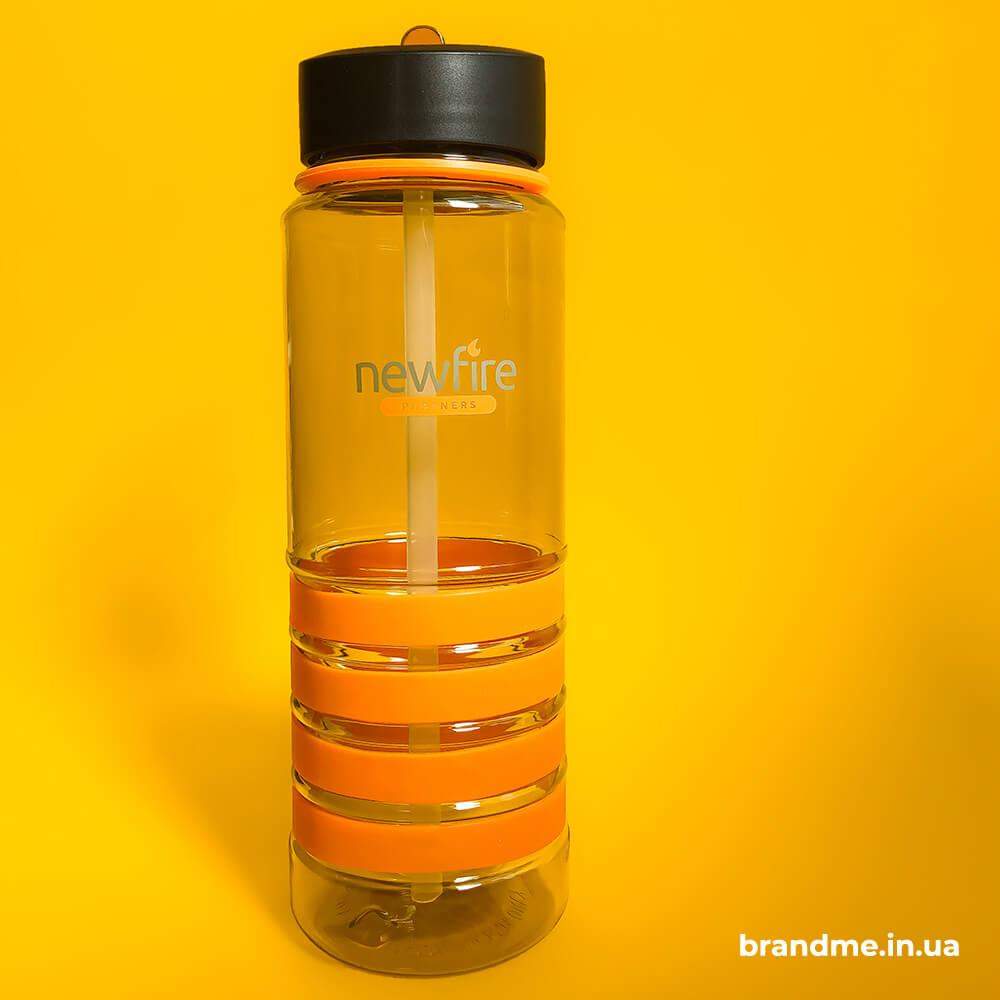 """Бутылка для воды с логотипом для компании """"Newfire Partners"""""""