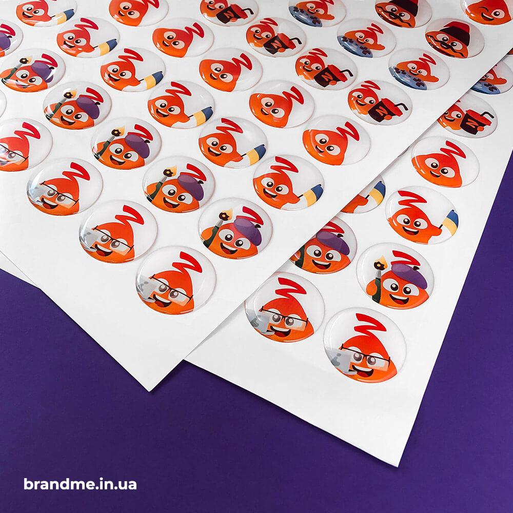 Объемные цветные наклейки для Zagrava Games