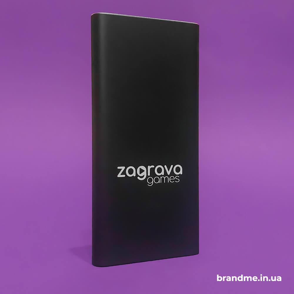 """Повербанк з гравіюванням для компанії """"Zagrava Games"""""""