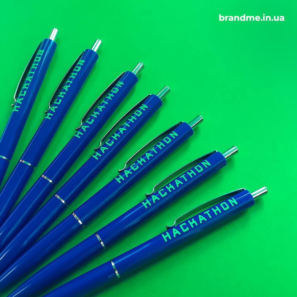 Яскраві брендовані ручки для ІТ-події Нackathon
