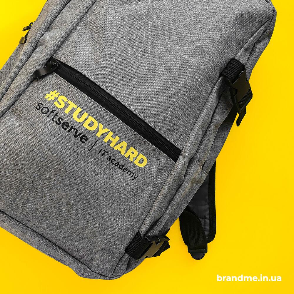"""Брендовані рюкзаки для компанії """"SoftServe"""""""