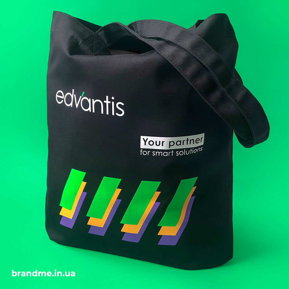 """Чіткий друк та яскраві кольори на еко-торбах для компанії """"Edvantis"""""""