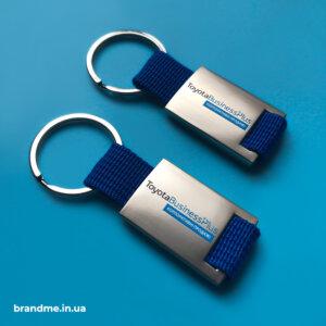 Металлические брелоки с УФ-печатью логотипа для