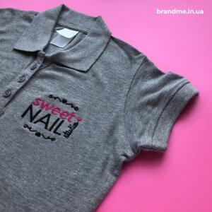 Вишивка логотипу на футболках-поло для