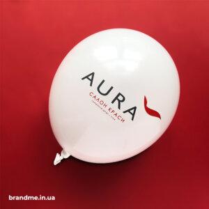 Друк логотипу на кульках для салону краси