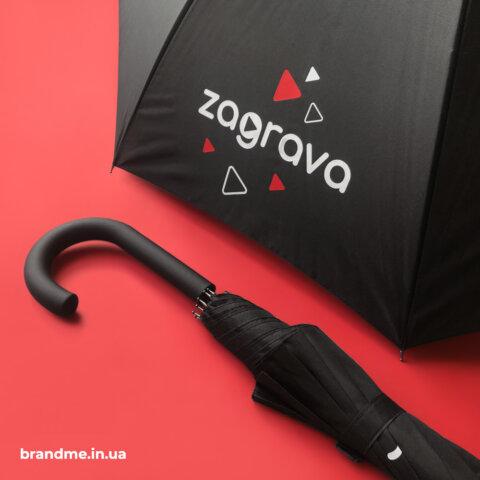 друк логотипу на парасолях