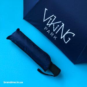 печать логотипа на зонтах
