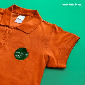 Вишивка логотипу на футболках
