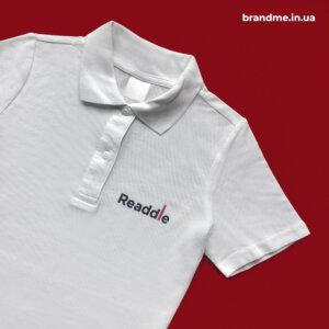 Білі поло з логотипом для компанії