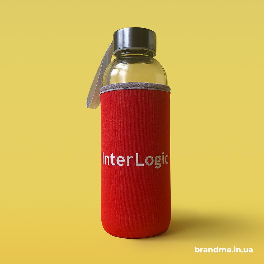 Скляні пляшки для води з друком логотипу для