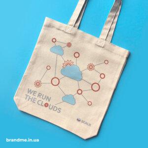 Эко сумки с нанесением для компании
