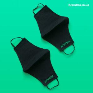 Защитные маски для лица с вышивкой логотипа для IТ-компании