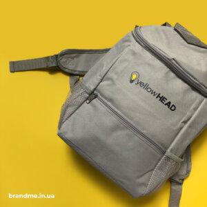 """Термосумка-рюкзак з друком логотипу для """"yellowHEAD"""""""
